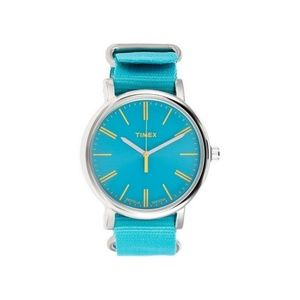 T2P363 Women's Weekender Turquoise Nylon Band